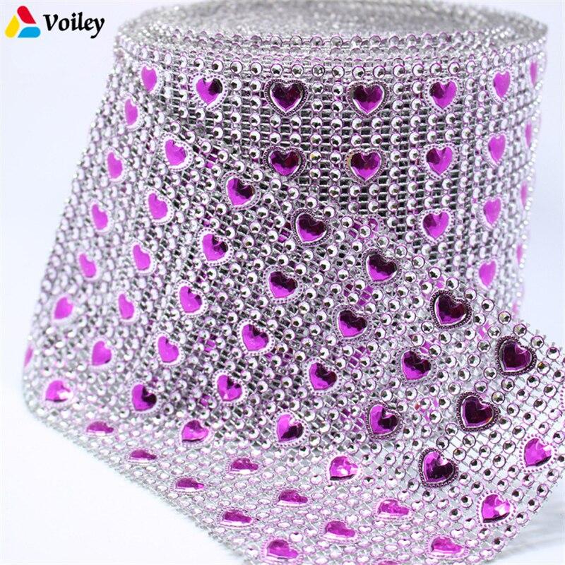 4mm Silver Wedding Bridal Bouquet Wrap Ribbon Sparkle Diamond Mesh Wrap
