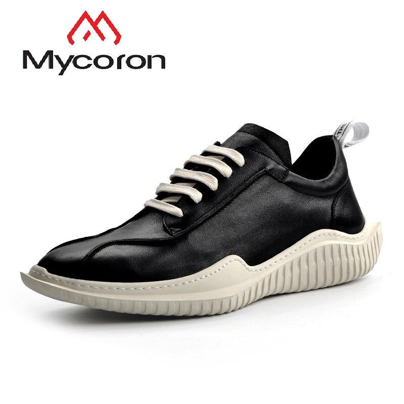 274ce50604d7a3 Mycoron En Doux Cuir Véritable De Chaussures Sport Plat Caoutchouc Casual  Arrivée Personnalité Hommes Respirant Nouvelle ...