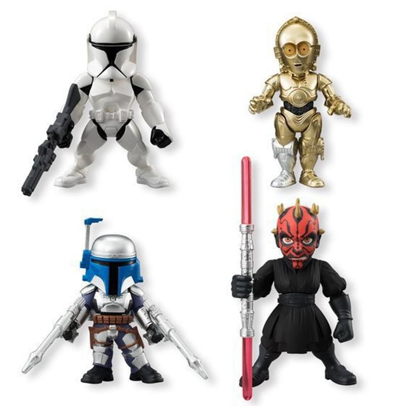 Star wars 9cm darth maul clone troops jango fett c 3po action figure model toy black warrior - Robot blanc star wars ...