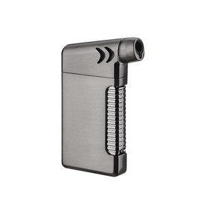 Image 2 - New Compact Butano Getto Più Leggero Torcia Turbo Fuoco Accendino Fuoco Pistola A Spruzzo Antivento In Metallo Tubo di Sigaro Accendisigari 1300 C NO GAS