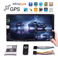7 2 Din Car Radio Navigator MP5 Multimedia Player Autoradio Bluetooth FM Mirror Link Rear View Camera GPS Navigation Free Map