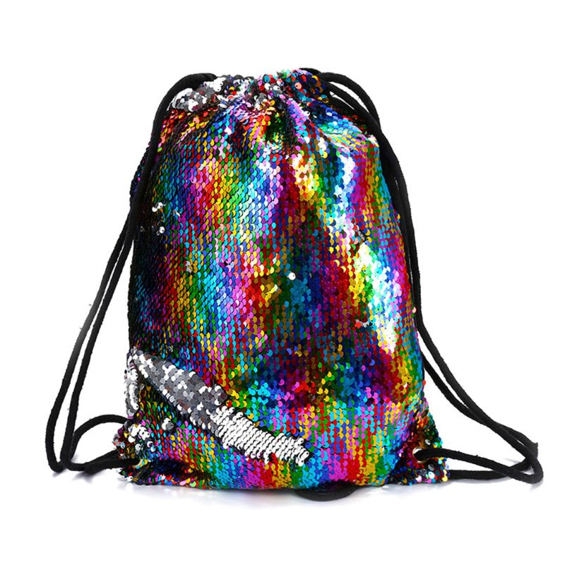 2019 Ladies Travel Sequin Drawstring Backpack Glitter Cinch Beach Pack Bags Flip Sequins Shining Sports Rucksack for Kids Adults2019 Ladies Travel Sequin Drawstring Backpack Glitter Cinch Beach Pack Bags Flip Sequins Shining Sports Rucksack for Kids Adults