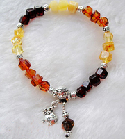 19cm Natural Amber Stones Certificate Baltic Genuine Amber Bracelet for women with 925 sterling silver beads bracelets
