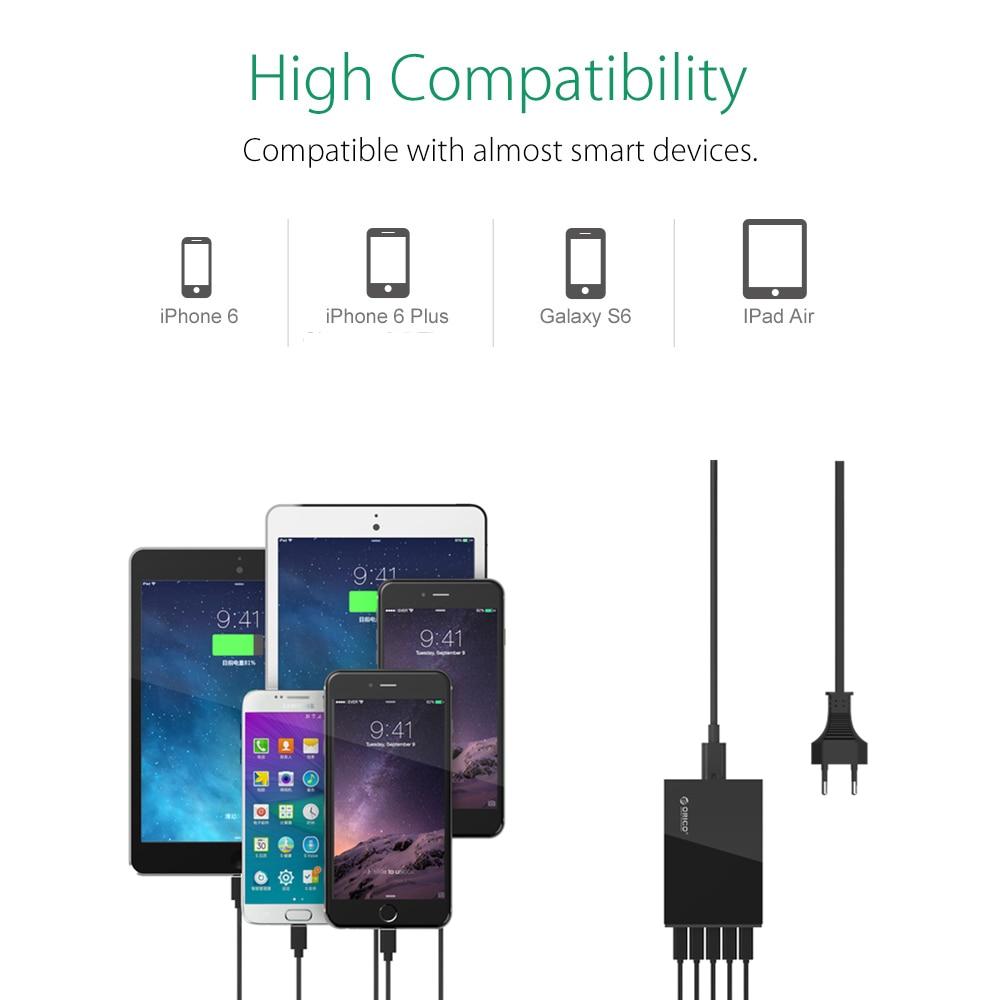 ORICO 5 Ports Desktop-Ladegerät USB-Handy-Ladegerät Reiseladegerät - Handy-Zubehör und Ersatzteile - Foto 3