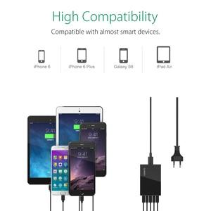 Image 3 - ORICO 5 Ports Desktop Charger USB Mobile Phone Charger Travel Charger for iPhone Samsung Xiaomi EU US UK Plug Desktop Charger