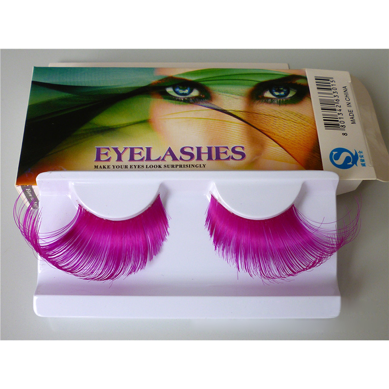 1 Pair Charming Rose Red False Eyelashes Very Exaggerated Thick Long Color Eye Lashes Stage & Party Makeup Extension Tools