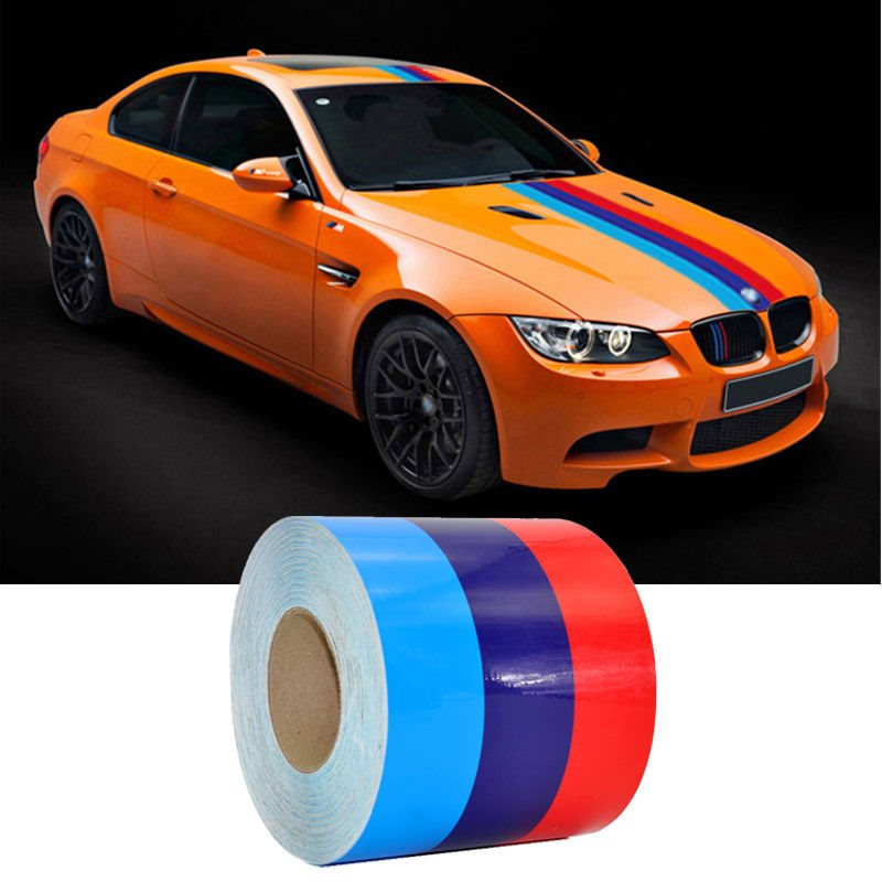 1 Roll Car Sticker PVC Car The Whole Body Sticker Fire Flame Decor Vinyl Decals France Germany Italy Flag For BMW M Color in Car Stickers from Automobiles Motorcycles