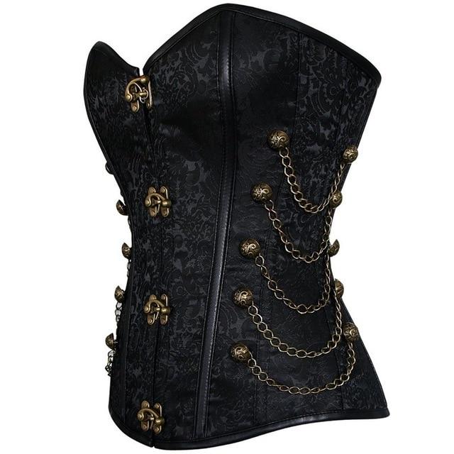Vintage Goth Plus Size 6XL Corset Steampunk Clothing