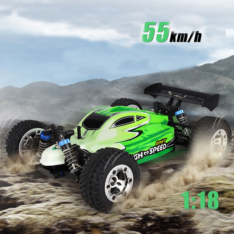 New RC Car GS1004 2.4G 55KM/H High Speed Racing Car Climbing Remote Control Car RC Electric Car Off Road Truck 1:18 RC drift wltoys 12402 rc cars 1 12 4wd remote control drift off road rar high speed bigfoot car short truck radio control racing cars