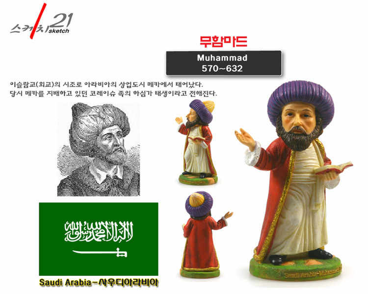 Hand-made Resin Crafts World Celebrities Saudi Arabia Mohamed Ancient Figurine Home Office Decoration Great Collection
