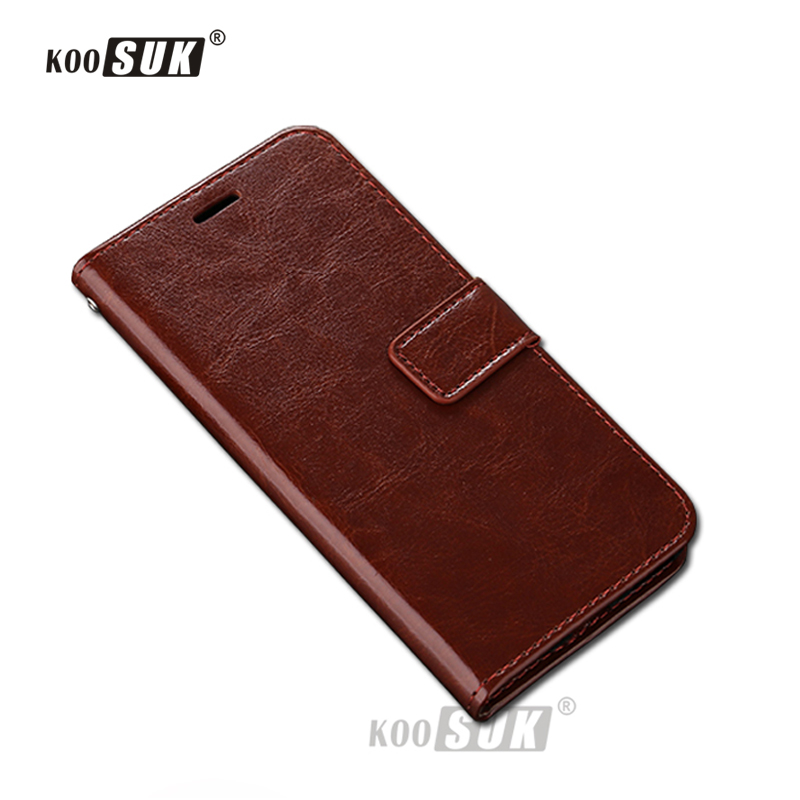 OPPO F5 4G Mobile Phone Case KOOSUK Luxury Retro Leather Cover For OPPO F5 6.0inch Wallet Stand Card Holder Protect Shell Bags