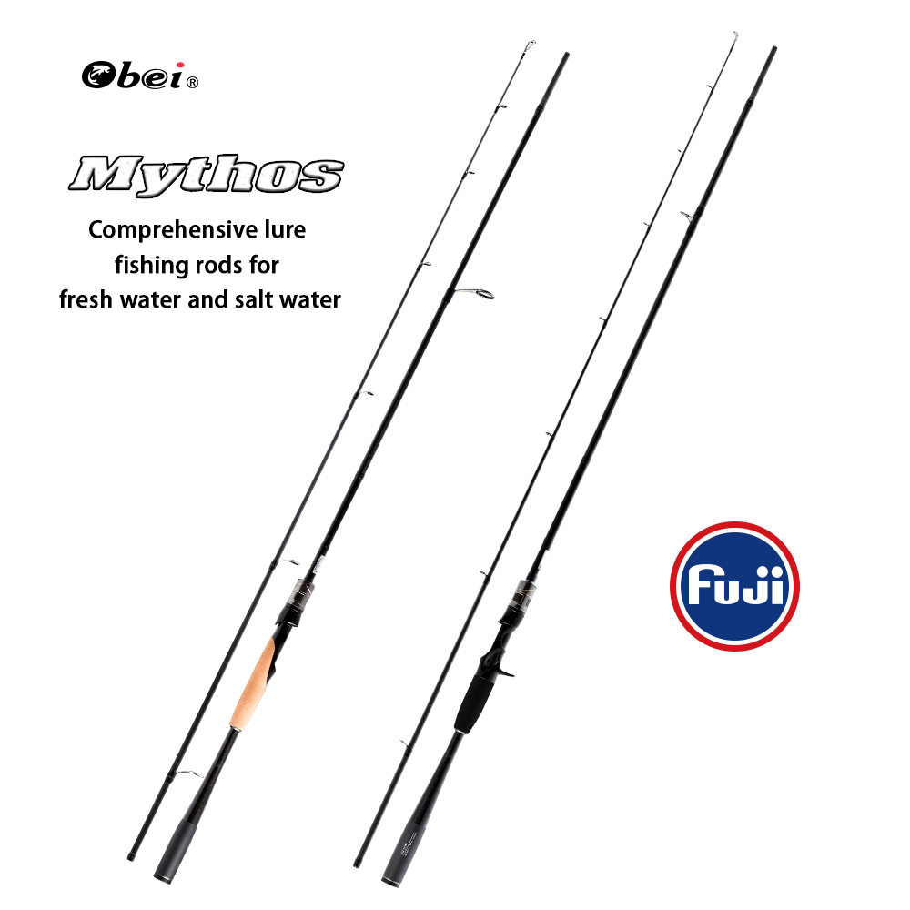 FUXIN mythos 1.98/2.10/2.40m carbon bait castingrod full fuji guide ring spinning fishing rod light carbon travel fishing rod mythos mythos i