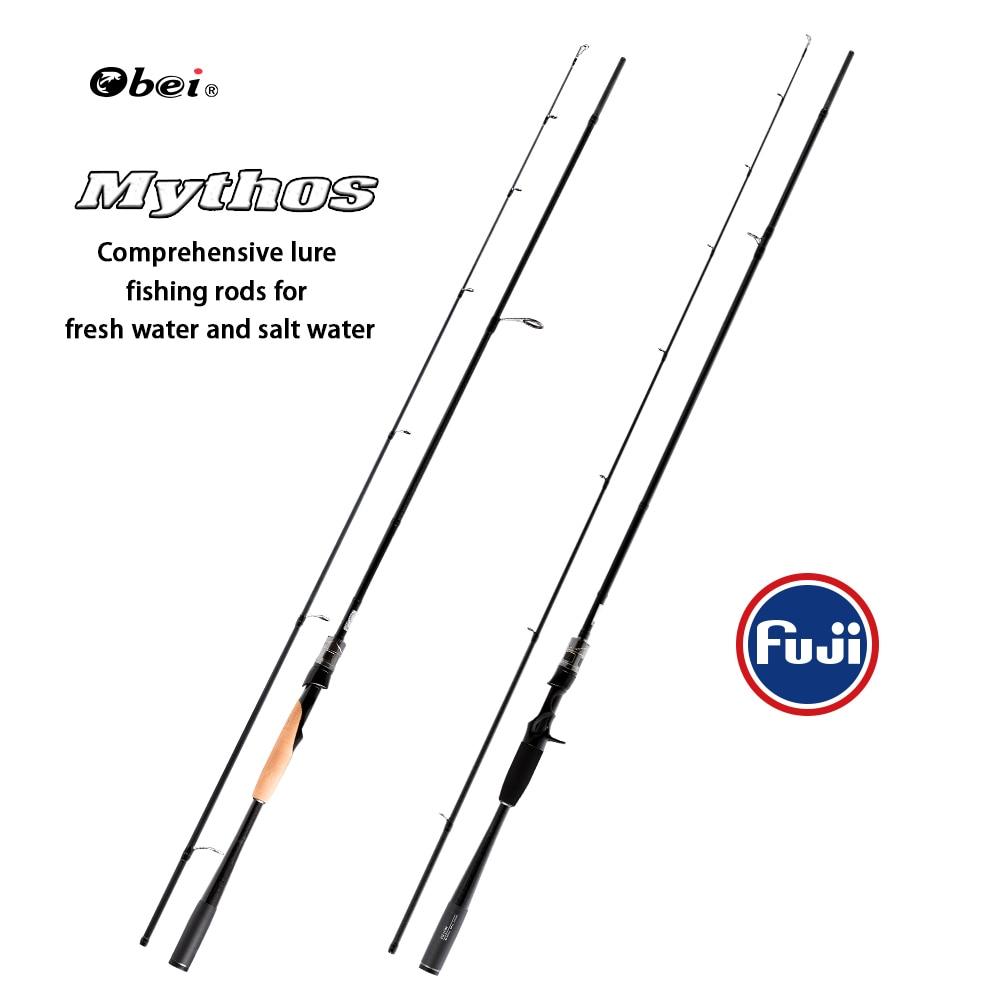 FUXIN mythos 1.98/2.10/2.40m carbon bait castingrod full fuji guide ring spinning fishing rod light carbon travel fishing rod mythos mythos strange guys