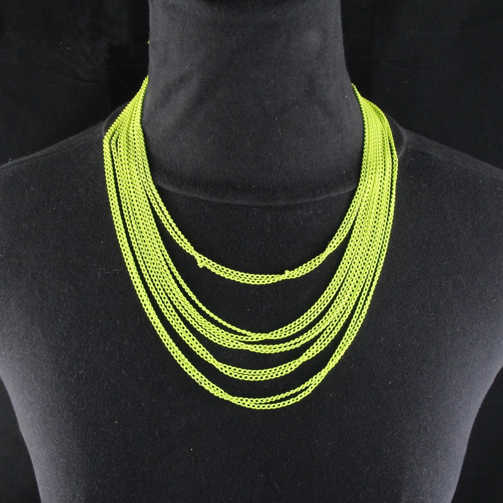 79d9eef67 CirGen الأزياء بيان طوق الأصفر اللوحة متعددة الطبقات سلسلة معدنية المختنق  قلادة قصيرة المختنقون النساء مجوهرات البند ، C92