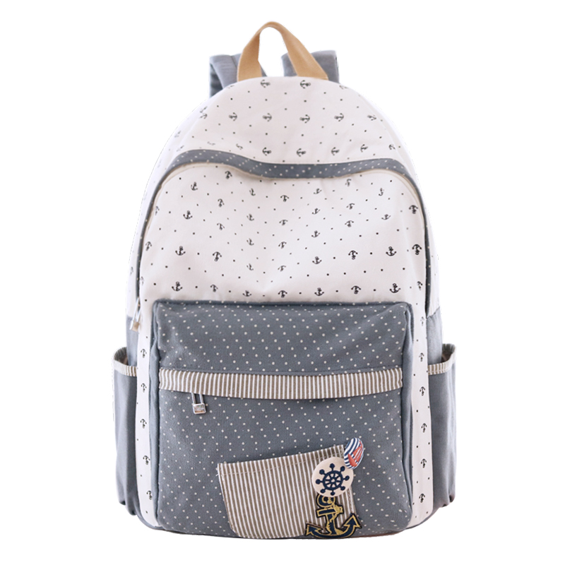 High Quality Women Canvas Backpack School bag For Girl Ladies Teenagers Casual Travel bags Schoolbag Backpack