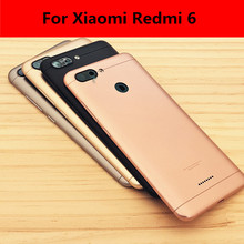 For Xiaomi Redmi 6 Battery Back Cover Metal Rear Door Housing + Side Key for Redmi6 Replacement Repair Spare for xiaomi redmi 6 battery back cover metal rear door housing side key for redmi6 replacement repair spare