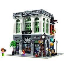 W MAGAZYNIE Darmowa wysyłka Nowy Banku Modelu Budynku Zestawy LEPIN 15001 2413 Sztuk Cegły Bloki Cegieł Zabawki Kompatybilny Z 10251