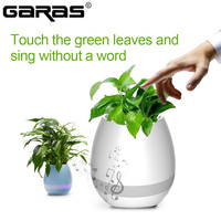 GARAS Music Flower Pot/Bluetooth Speaker For Phone Mini Portable Speaker Smart Pluck Music Garden Pot With Colorful LED Light