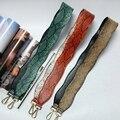 Fashion handbag strap pu leather round plain color bag straps women lovers presents bag parts shoulder strap 3 colors