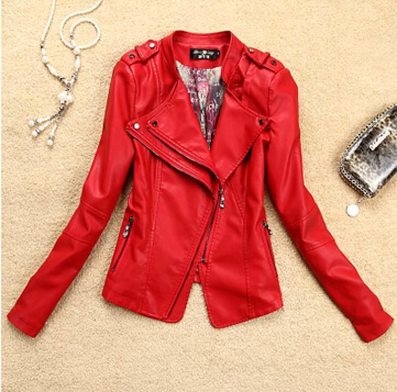 2017 Autumn New Women leather Jacket women Fashion slim motorcycle Jackets leather coat women PU leather plus size coat AE337