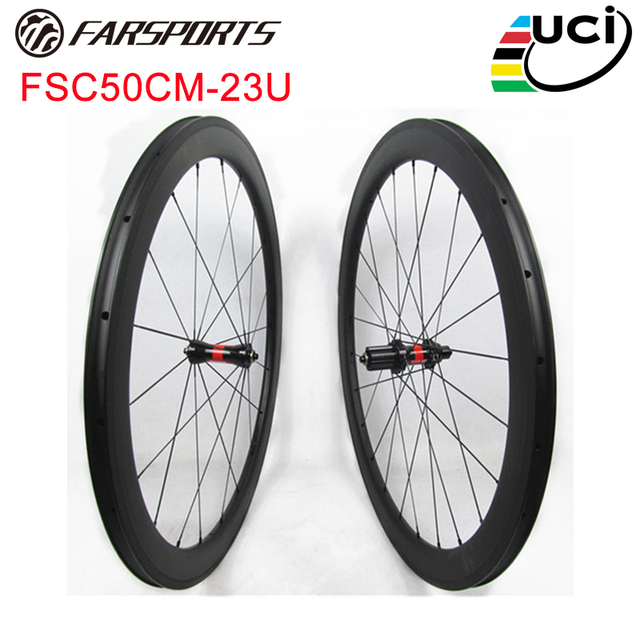 270426599b2 Farsports DT 240s Straight Pull hubs carbon cycling wheels 50mm 23mm carbon  race wheels clincher 20H 24H