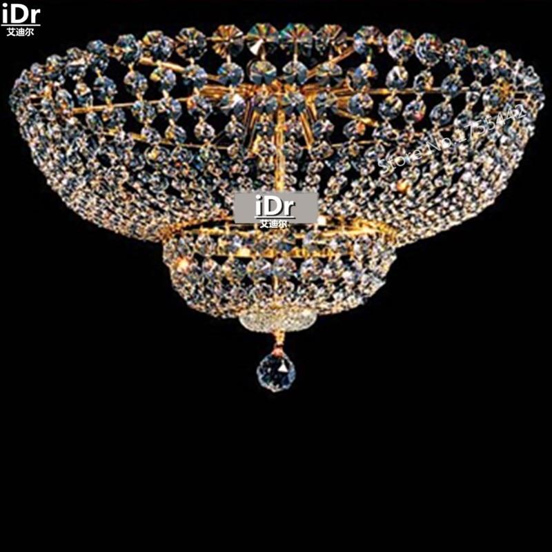 zlatá stropní světla extravagantní luxusní hotelová hala křišťálová lampa ložnice lampa pod omítku D55cm x H30cm