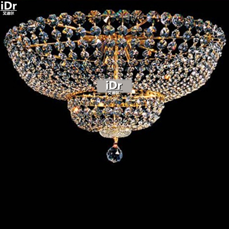 gold Ceiling Lights extravagant luxury hotel lobby lamp crystal lamp bedroom lamp flush mounted D55cm x H30cm