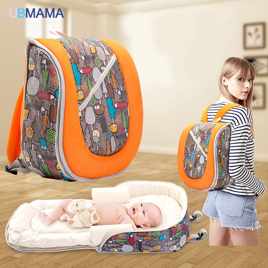 High quality multifunctional double shoulder backpack baby crib portable bed baby travel bag baby diaper change bed mummy bag 2in1 baby travel crib can be mummy bag protable fold travel baby bed