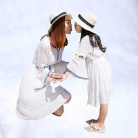 Family look girl and mother Mother Daughter Dresses 2019 Summer Family Clothing mommy and me clothes mommy and me clothes