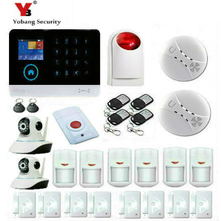 Yobang Security Wireless Home Security WIFI GPRS GSM Alarm system APP Remote Control Wireless Smoke Detector yobang security wifi gsm wireless pir home security sms alarm system glass break sensor smoke detector for home protection