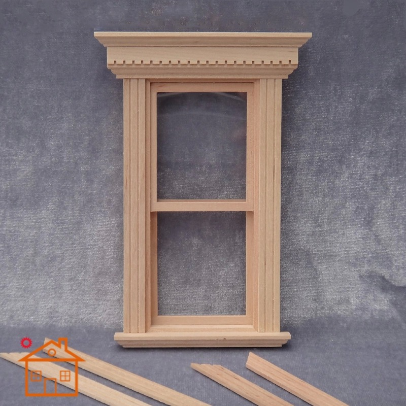 1 12 Mini Up Down Slide Window with Frame and Plastic Glass for Dollhouse in Doll Houses from Toys Hobbies