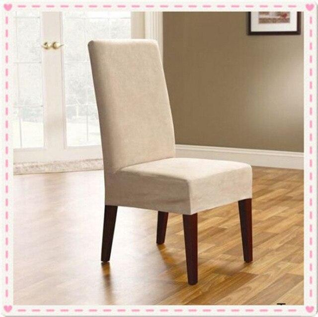 100 pcs surefit daim court a manger couverture de chaise housses pour salle a manger