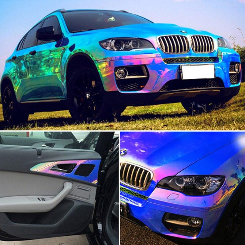 AuMoHall 1.35 M * 18 M brillant Film de carrosserie de voiture changement de couleur Film d'emballage voiture Tuning partie autocollant