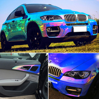 AuMoHall 1.35M*18M Glossy Car Body Film Color Changing Wrap Film Car Tuning Part Sticker