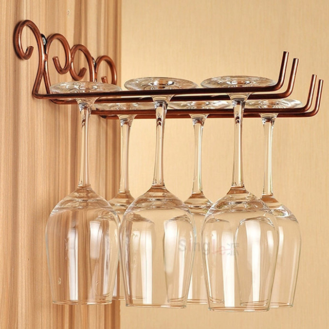 wine glass rack shelf. Contemporary Glass 2 Rows Stainless Steel Side Stand Wine Glass Hanger Rack Cup Holder  Shelf  Bronze To