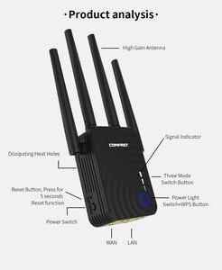 Image 4 - Double bande sans fil répéteur Wi Fi Extender 1200Mbps WIFI répéteur routeur Point daccès avec 4 antennes externes Comfast CF WR754