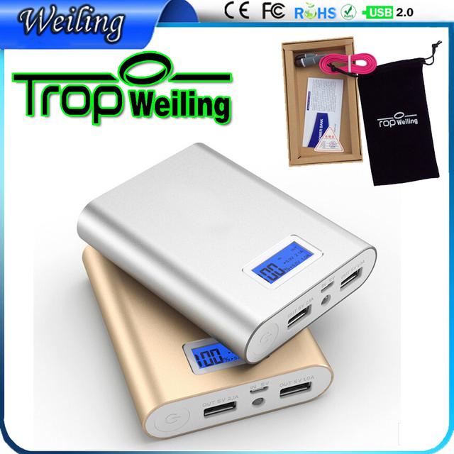 Tropweiling Powerbank Banco de la Energía de batería de Reserva 10000 mah cargador portátil dual usb batería externa para Todos Los teléfonos