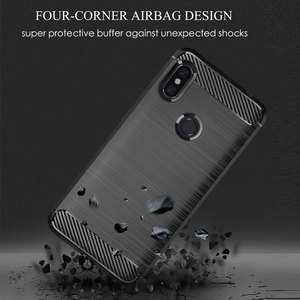 Image 5 - Soft Silicone Phone case For Xiaomi Redmi Note 6 Pro Carbon Xiomi Note6 Redmi6 Redmi6A Redmi6Pro 6A 6pro Rugged Armor TPU cover
