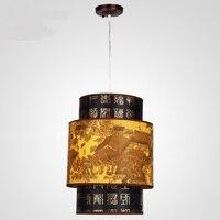 중국 스타일 wclassical 중국 레스토랑 식사 펜 던 트 조명 매달려 모방 양 피 램프 조명 램프 레트로 식사 zs35
