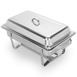 9L 4 Pack Stainless Steel  Buffet Set Round in Home & Garden Kitchen Tool Siver