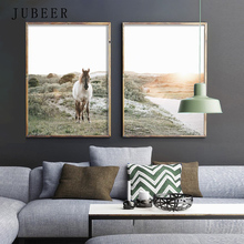 Nordic Decoration Home Horse Wall Art Poster Nature Landscape Pictures for Living Room Cuadros Decoracion Salon