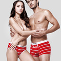 New 2017 Lady Briefs Couples underwear Woman Sexy Sweethearts outfit Shorts Cotton Striped Brand Clothing Fashion Breathable XL