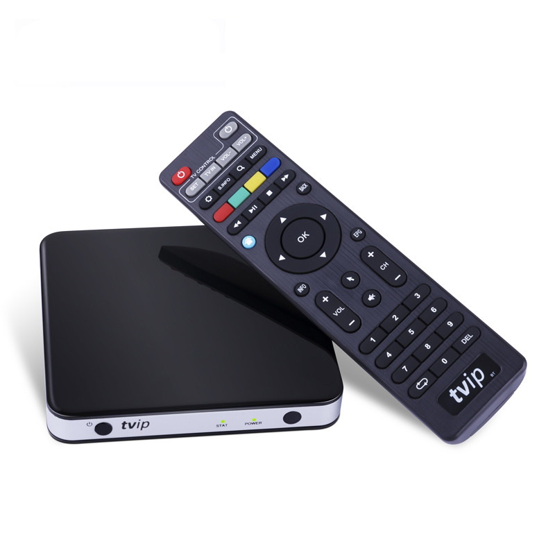 TVIP 605 Smart TV Box Linux OS Support Quad Core TVIP412 4K Super Clear Double System Linux or Android 6.0 OS Set Top Box