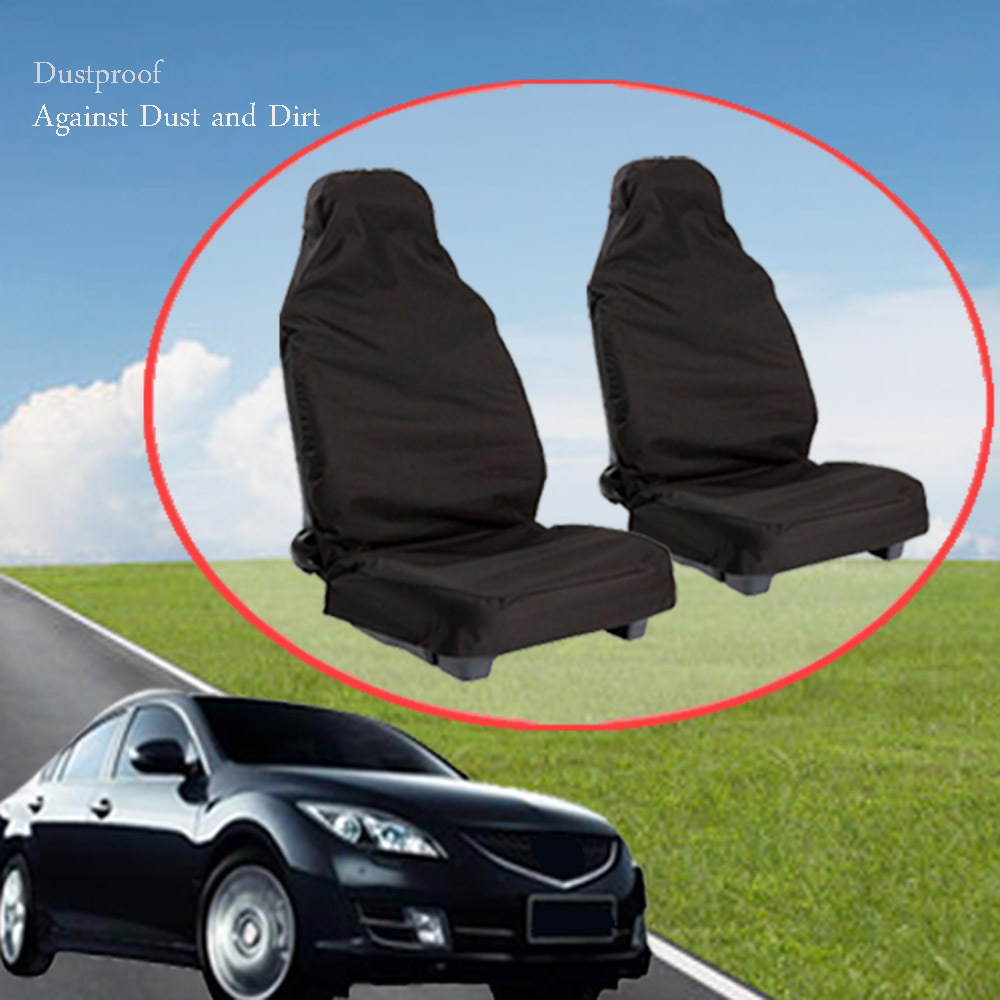 2 шт./лот черный полиэстер сиденье автомобиля защитная крышка Чехлы Protecter пыли противообрастающих для ремонта автомобиля