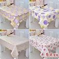 A produção de alta-grau conhecido como PVC PEVA rede quadrada toalha de mesa mesa de café de pano toalha de mesa