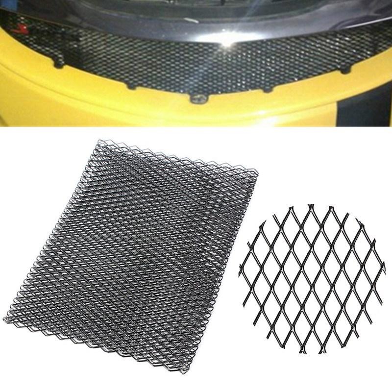 HTB1mOZPPXXXXXbJaXXXq6xXFXXXv - Universal Black/Silver Aluminium Racing Grille Mesh Vent Car Tuning Grill 100cm x 33cm