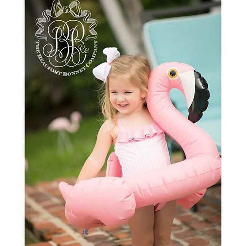 2018 flamingbaby تعويم السباحة الدائري مقعد تعويم تعويم نفخ متعة فلامنغو حمام الماء لعبة طفل الصيف الأطفال السباحة الدائري