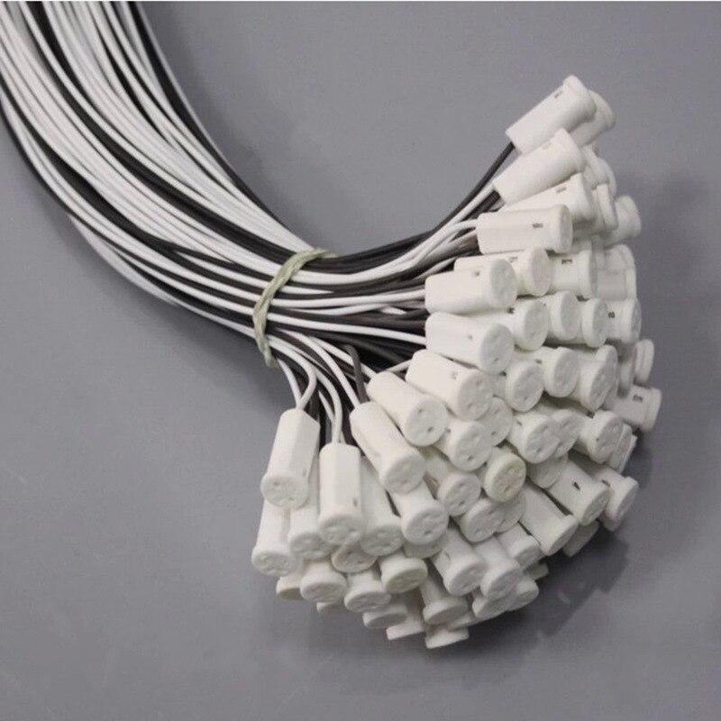 5pcs Practical G9 MR16 MR11 GU10 G4 Led  Socket Plug  Crystal Lamp Holder Head Wire Connector 12V 10-20W Lamp Base