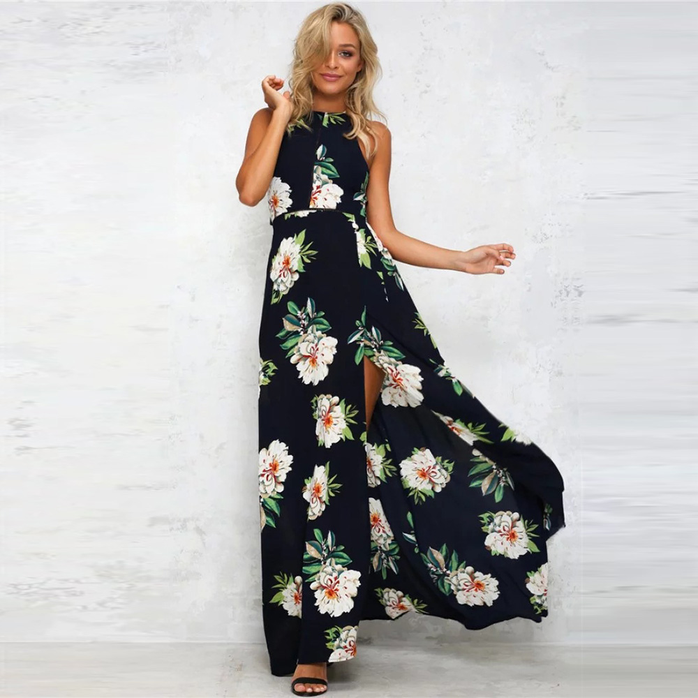 bloemen jurk lang