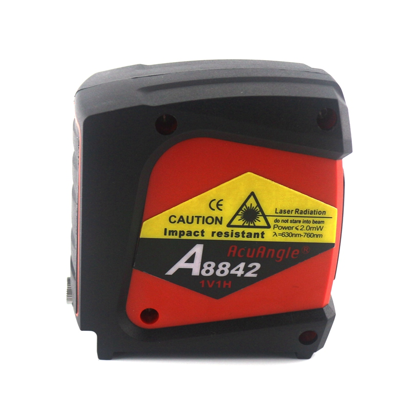 ACUANGLE A8842 Laser Level and Detector 635nm 360 Self-leveling Rotary Red Instrument Cross Line 2 Lines 1 Point Diagnostic Tool cross line laser the tool measuring laser leveler 5 lines 1 point 4v1h laser level